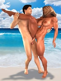 This bisexual male likes muscled goddess